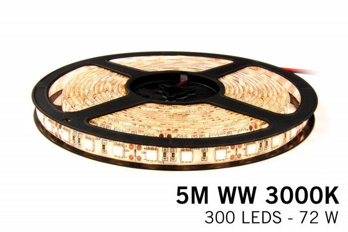 Mi·Light Dimbare LED strip set Warm Wit 5 m. 300 leds 72W RF remote