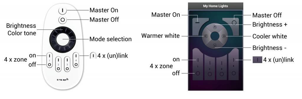 Mi·Light Mi-light 9W Dual White E27 Wifi LED Lamp Starterskit. Incl. Afstandsbediening & Wifi-box