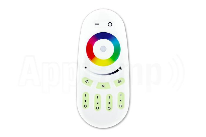 Afstandsbediening voor RGB en RGBW LED verlichting, 4 kanalen