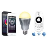 Wifi LED Lamp met Afstandsbediening Mi-Light 9W Dual White E27. Starterskit met Wifi Box