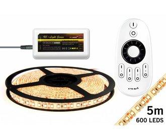 Mi·Light LED strip set, RF dimbaar, warm wit, 5 m. 600 leds type 3528 - 48W - 12V