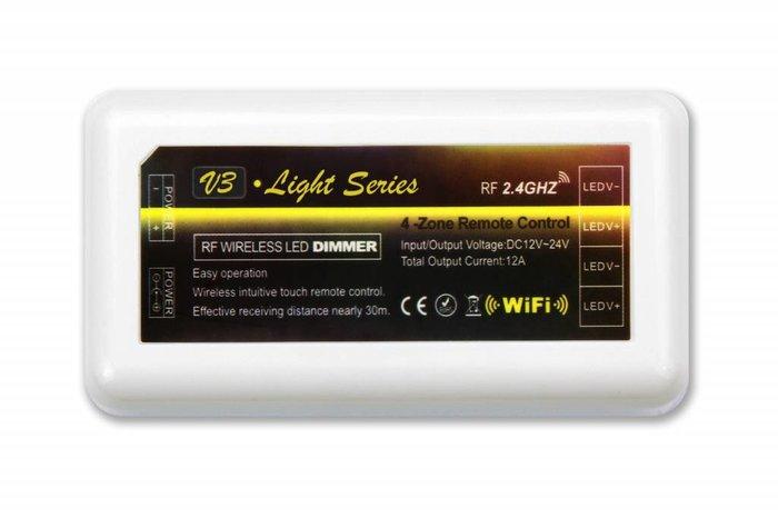 Dimbare LED strip set Warm Wit 5 m. 600 leds 48W RF remote