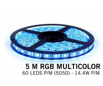 AppLamp RGB LED strip 5 meter, 60 leds p.m. type 5050 12V