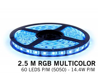 AppLamp RGB LED strip 2,5 meter, 60 leds p.m. type 5050 12V