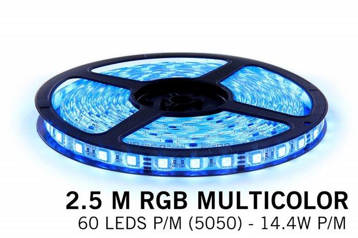 AppLamp RGB LED strip 2,5 meter, 150 leds type 5050 12V