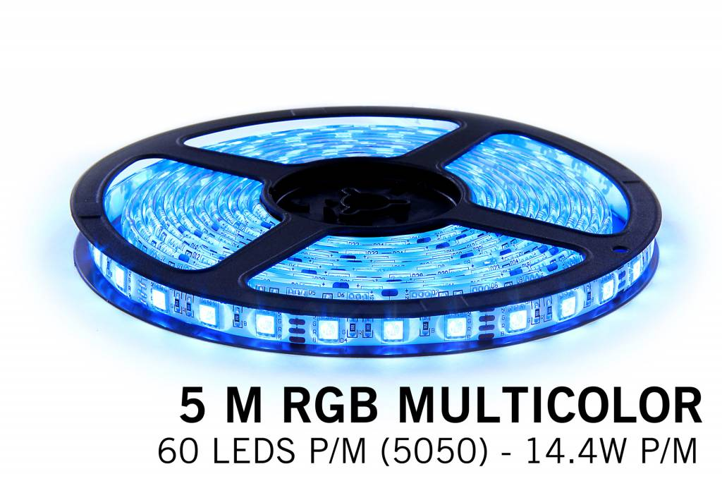 Mi·Light RGB LED strip met Wireless RF remote (5m, incl. controller / voeding)