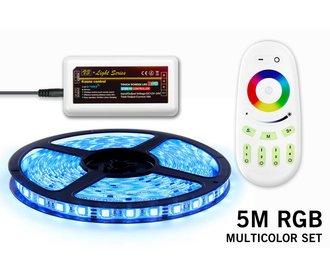 RGB LED strip 5m met afstandsbediening
