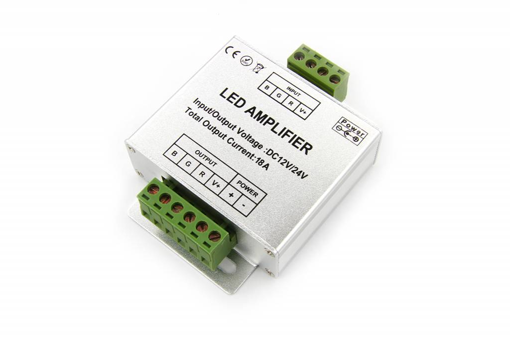 RGB LED strip versterker 3 x 6Amp