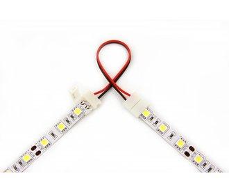 Flexibele connector voor witte LED strips, soldeervrij