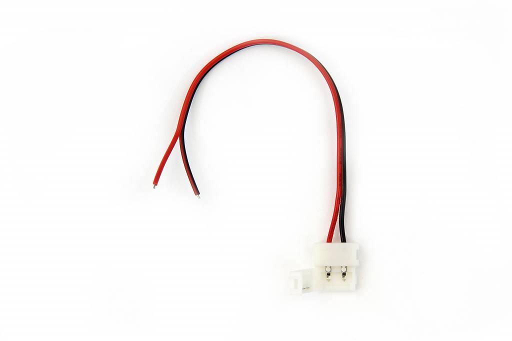 Witte LED strip soldeervrije voedings connector