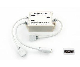 AppLamp RGB Ledstrip versterker 12-24 Volt 3 x 3 Amp