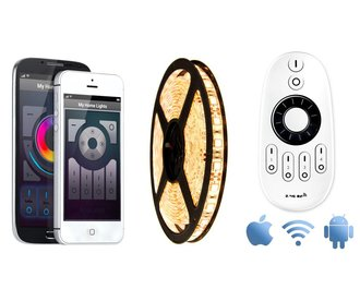 Mi·Light Wifi kit met Warm Witte LED strip, 5M type 5050, 72W