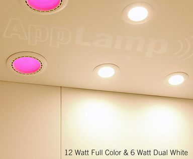 Dual-White-6 Watt-LED-inbouwspot & 12Watt-LED-RGB/RGBW-inbouwspot