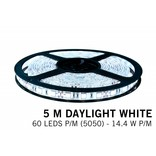AppLamp Koel witte LED strip 60 leds p.m. - 5M - type 5050 - 12V - 14,4W/p.m