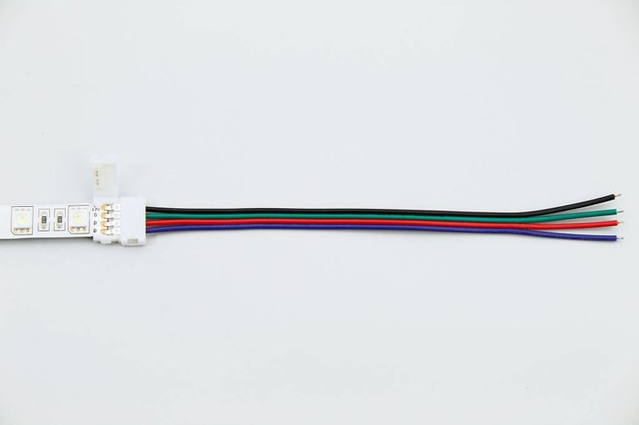 RGB LED strip soldeervrije pigtail 15cm