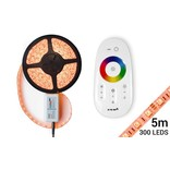 RGB LED strip met RF Remote & Adapter (5M, incl. controller & voeding)
