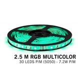 AppLamp RGB LED strip 2.5 meter, 30 leds p.m. type 5050 12V (IP65)