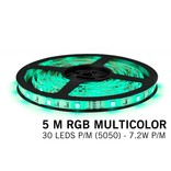 AppLamp RGB LED strip 5 meter, 30 leds p.m. type 5050 12V (IP65)