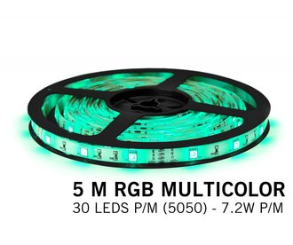 AppLamp RGB LED strip 5 meter, 30 leds p.m. type 5050 12V