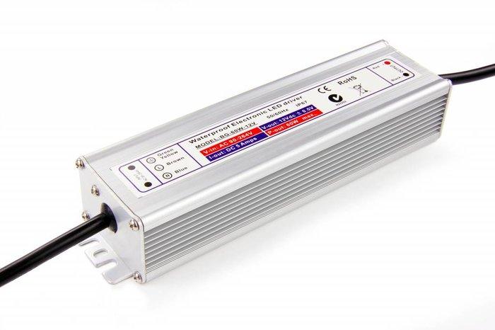 Waterdichte voeding DC 12V 60Watt 5Amp