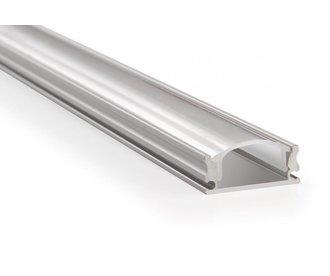 LED strip profiel 2 meter type 1707, incl. opaal cover en caps