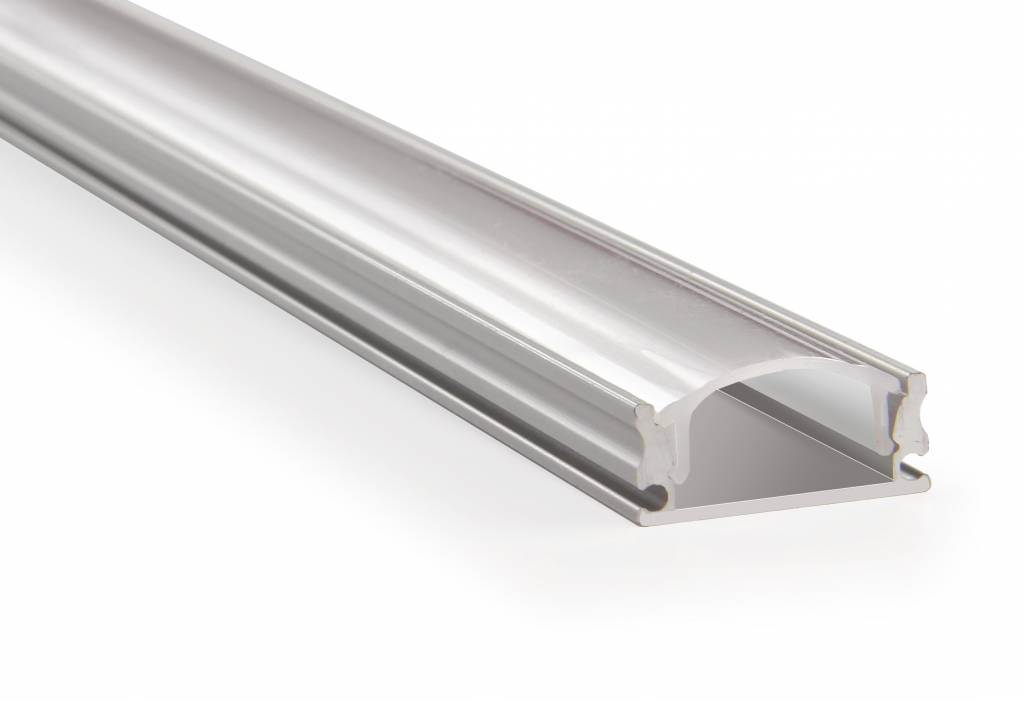 Aluminium LED strip profiel 2 meter doorlopend, incl. melk cover en caps