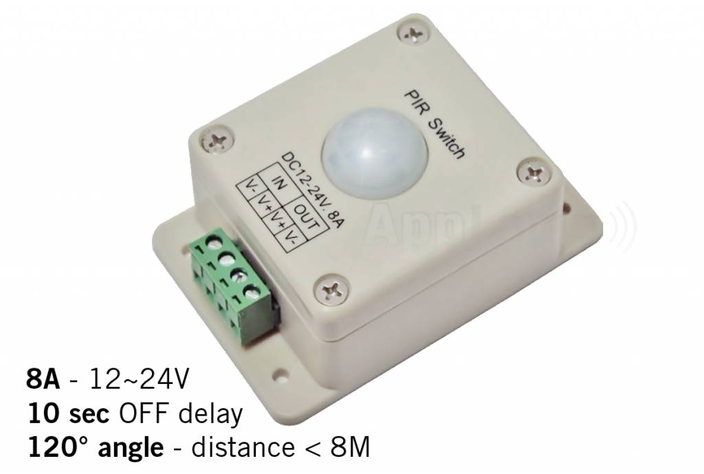PIR bewegingsmelder / bewegingssensor voor LED verlichting | AppLamp.nl