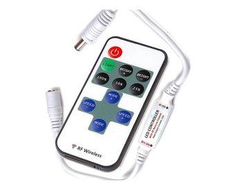 Mini LED strip dimmer met RF afstandsbediening