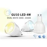 GU10 LED spotje, variabel warm tot koud wit, afstandsbediening dimmen, 4W