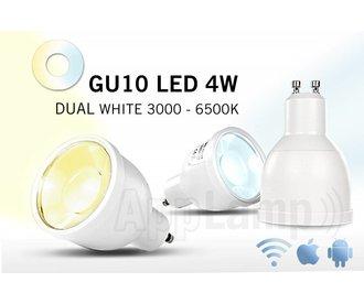 Afstandsbedienbaar GU10 dimbaar LED spotje, Dual White, RF, 4W