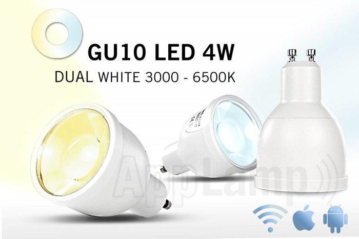 AppLamp GU10 LED spotje, variabel warm tot koud wit, afstandsbediening dimmen, 5W