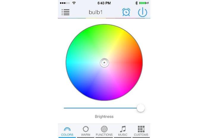 LED Magical Bluetooth LED lamp 16M kleuren,warm wit, wake-up light (V2)