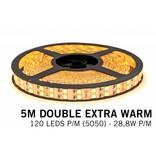 Mi·Light LED strip set Extra Warm Wit met dubbele rij, 600 leds 28W p.m.,12V 5M met RF remote
