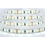 Dual White LED strip set 600 leds Variabele kleurtemperatuur 72W 12V met remote