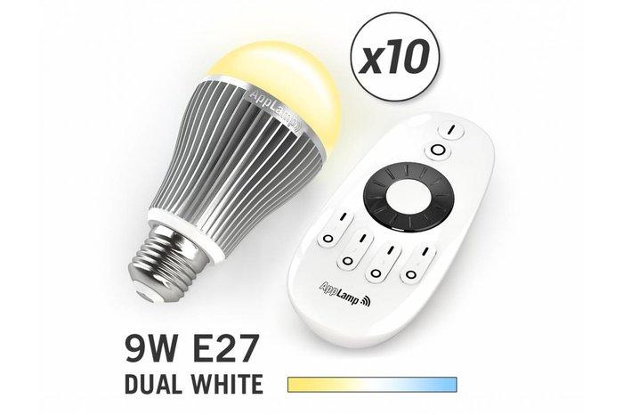 AppLamp Set van 10 Dual White 9W LED lampen + Afstandsbediening