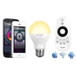 Mi·Light Wifi APP kit met één 6W Dual White LED lamp - APP en remote
