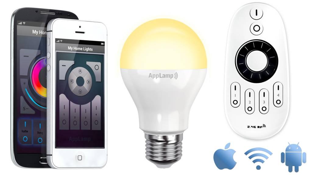 Mi·Light Mi-light 6W Dual White E27 Wifi LED Lamp Starterskit. Incl. Afstandsbediening & Wifi-box