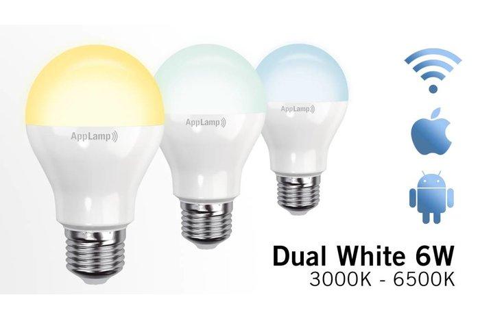 AppLamp Set van 4 Dual White 9W LED lampen + Afstandsbediening