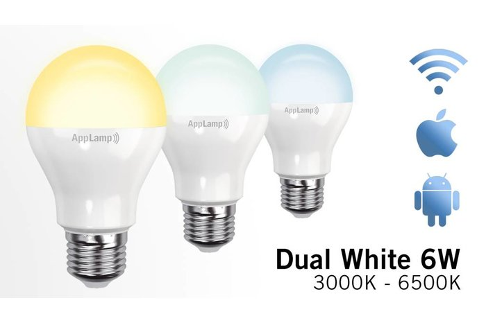 AppLamp Set van 8 Dual White 9W LED lampen + Afstandsbediening