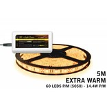 Mi·Light Uitbreidingsset Extra Warm Witte LED strip 300 leds 72W 12V 5M