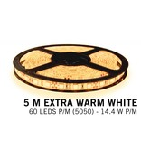 AppLamp Extra Warm Witte LEDstrip 60 leds p.m. - 5M - type 5050 - 12V - 14,4W/p.m