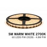 AppLamp Warm Wit LED strip (2700K) 60 LED's p.m. type 3528 - 5M - 12V - 4,8W p.m.