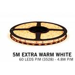 AppLamp Extra Warm Witte LEDstrip 60 leds p.m. - 5M - type 3528 - 12V - 4,8W/p.m