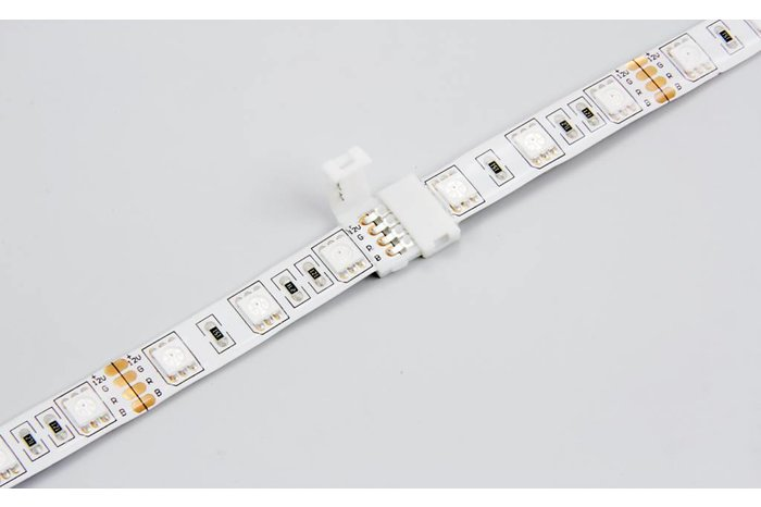 RGBW LED strip koppelstuk connector, soldeer-vrij, RGBW klik connector 12mm