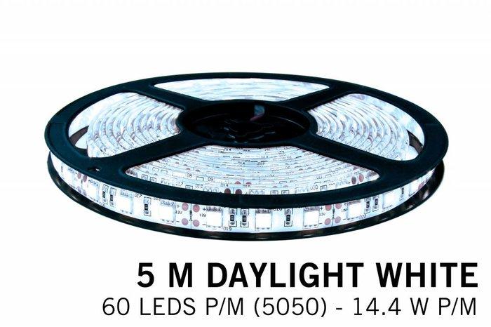 LED strip set koel wit 300 leds 72W 12V 5M, RF dimmen