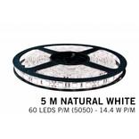 LED strip set Neutraal wit 300 leds 72W 12V 5M, RF dimmen