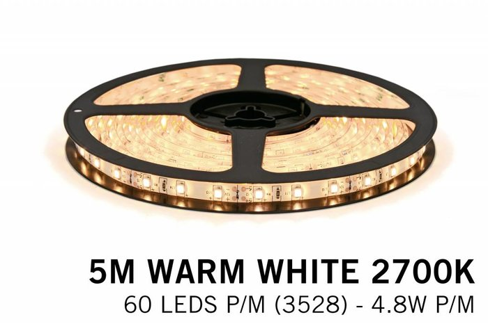 Mi·Light LED strip set, RF dimbaar, warm wit, 5 m. 300 leds type 3528 - 24W - 12V