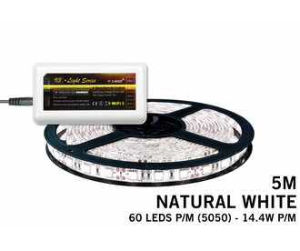 LED strip set Neutraal wit 300 leds 72W 12V 5M - Uitbreidingsset