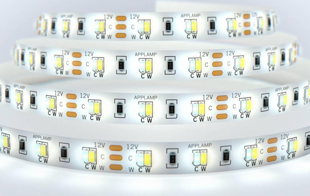 Mi·Light Dual White LED strip set 600 leds Variabele kleurtemperatuur 72W 12V - Uitbreidingsset