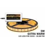 Mi·Light LED strip set Extra Warm Wit met dubbele rij, 600 leds 28W p.m.,12V 5M - Uitbreidingsset